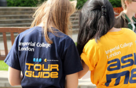 Tour guides at the open day