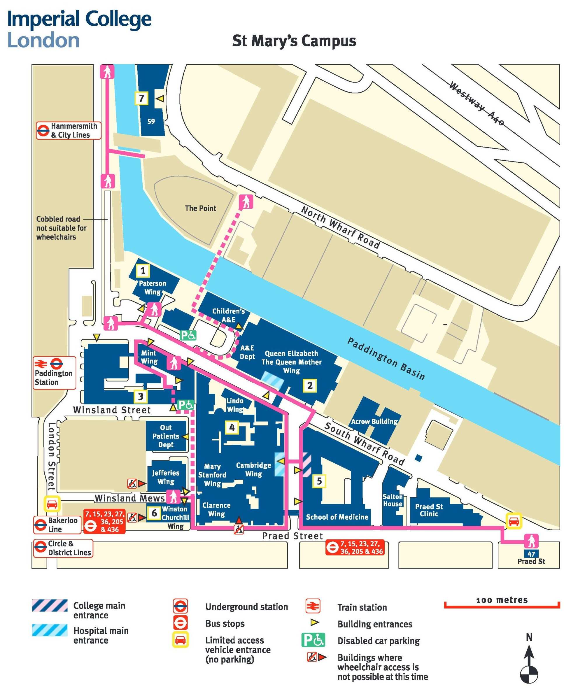 st marys campus map St Mary S Campus Research Groups Imperial College London st marys campus map