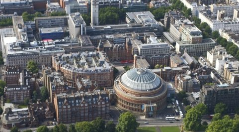 Aerial view of South Kensington campus