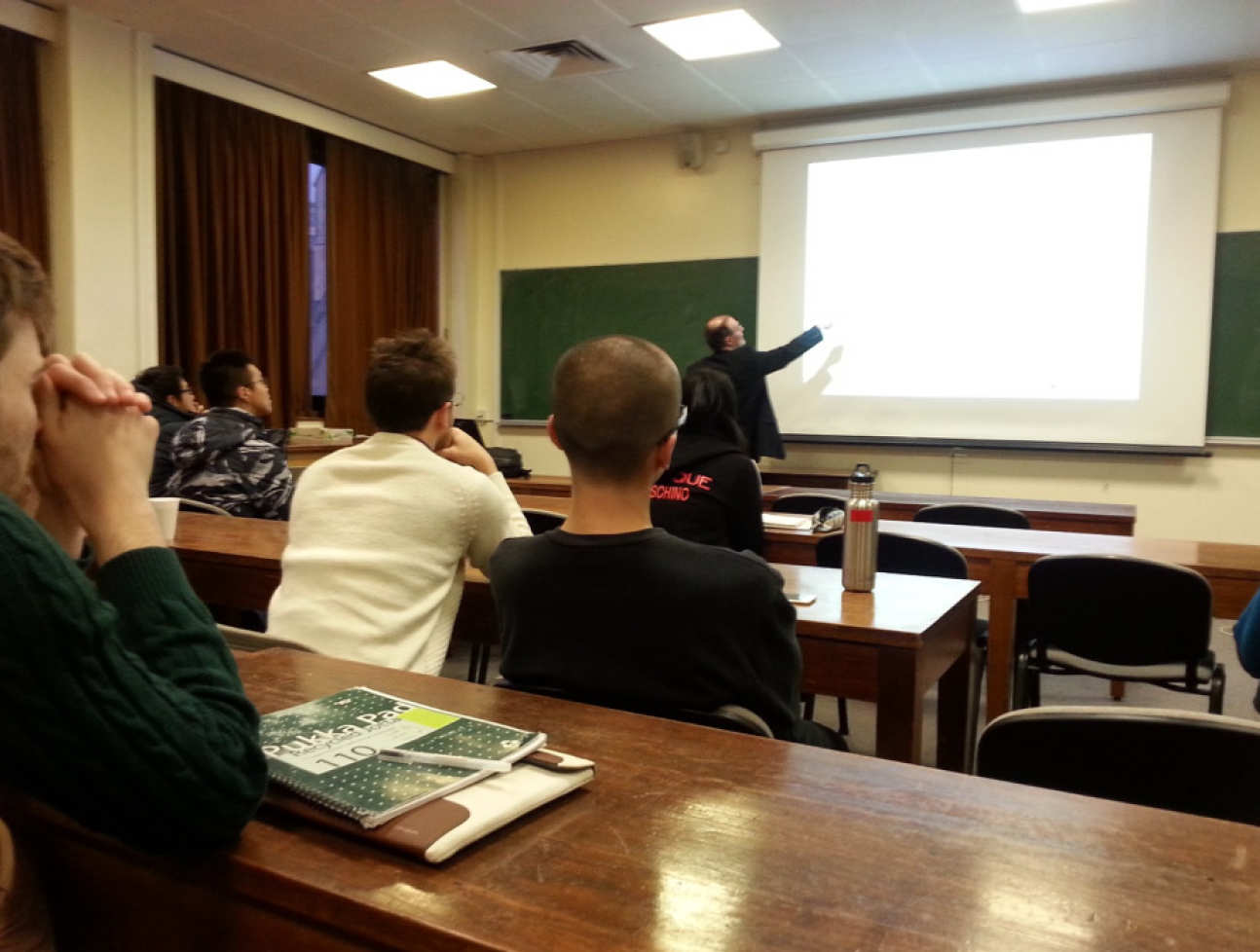 Prof Pereira giving a lecture to Imperial College research students