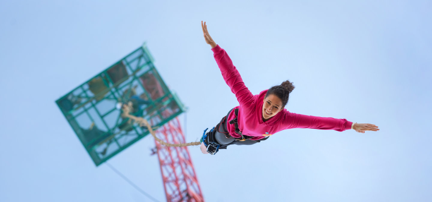 Student bungee jumping