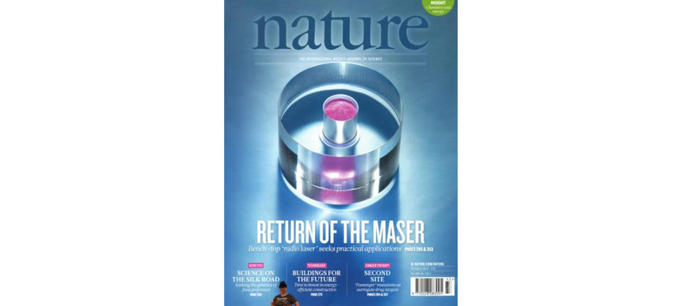 nature magazine cover August 2012