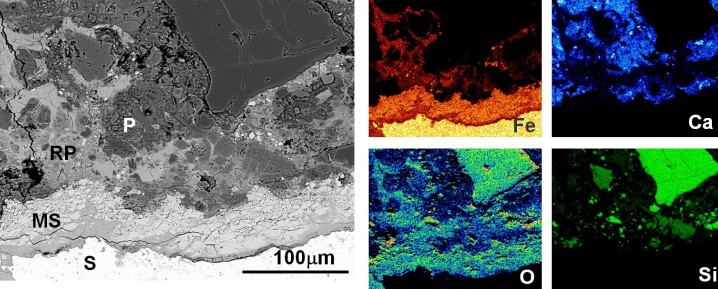 Microstructure of corroded reinforced concrete