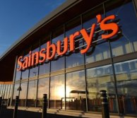 sainsburys store front with logo