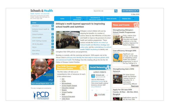 Schools and Public Health Website