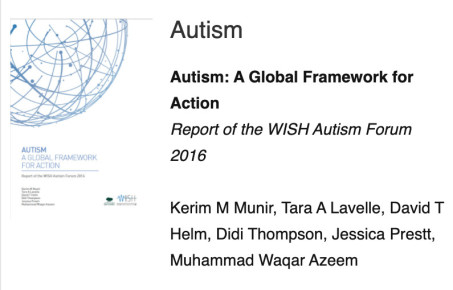 WISH autism report cover