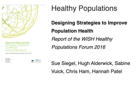 WISH healthy populations report cover