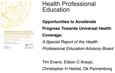 WISH health professional education report cover