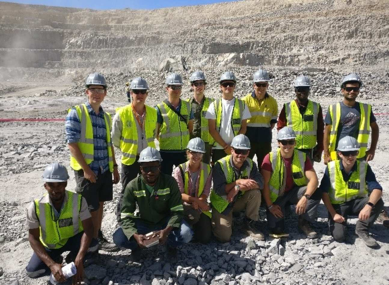 Imperial SEG Chapter inside the pit at Otjikoto gold mine