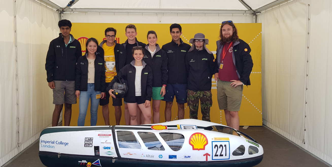 Imperial Racing Green students with their zero-emissions car