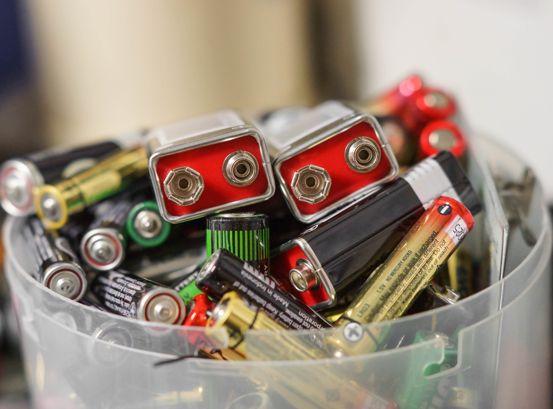 A collection of used batteries