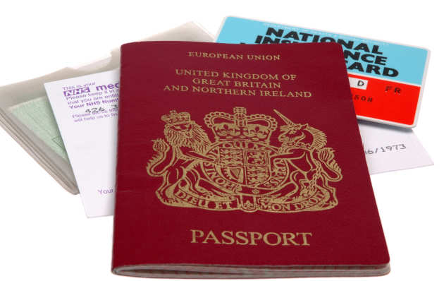 passport and NI card