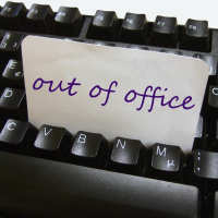 Out of office on keyboard