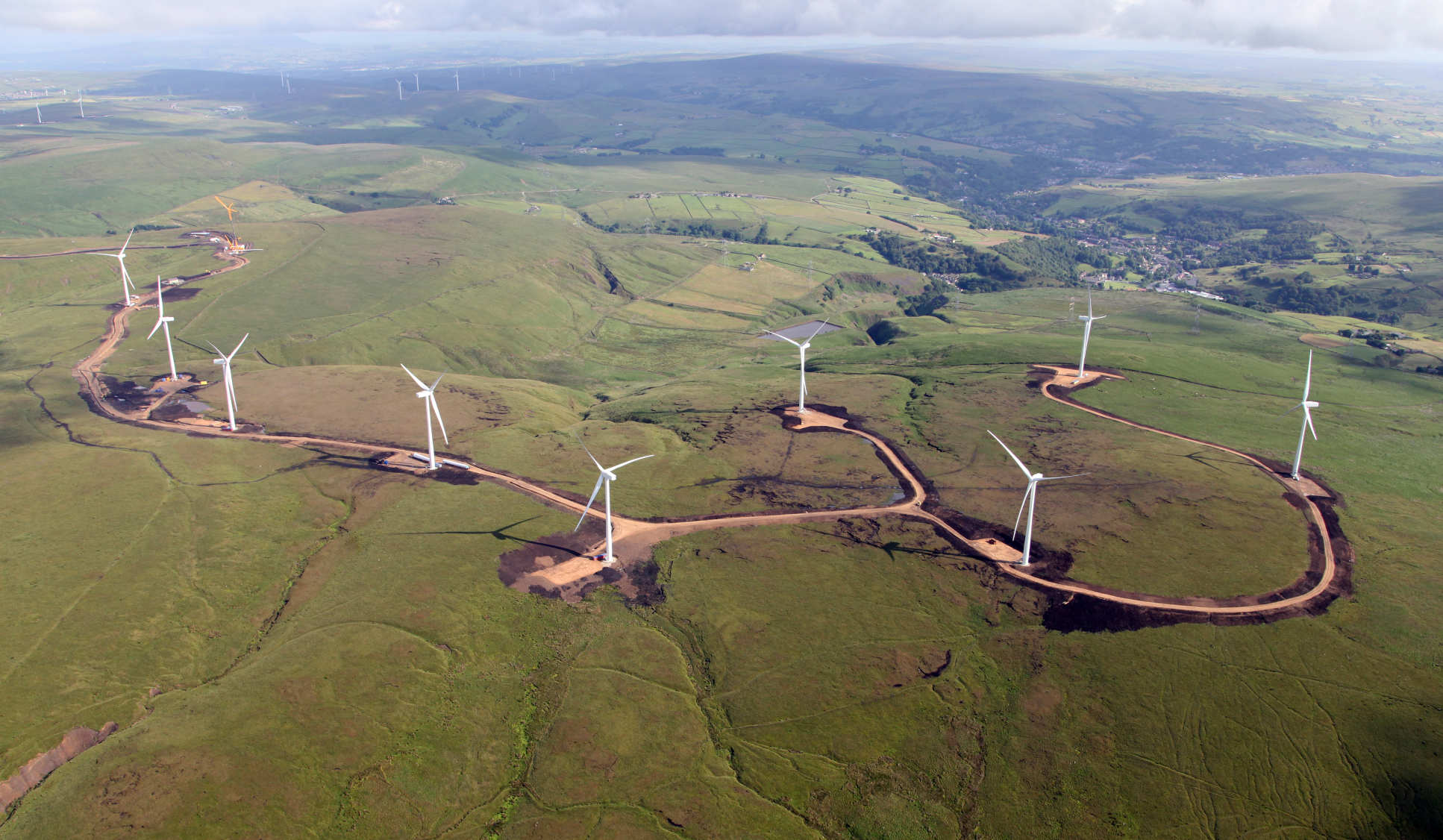 Wind farm under construction in the UK