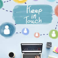 Keep intouch on keyboard