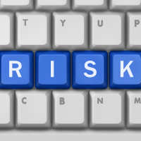 Risk letters on keyboard