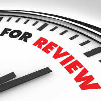 Clock faced with time for review words