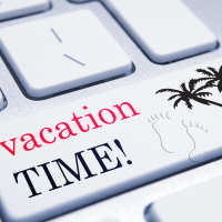 Keyboard with vacation time