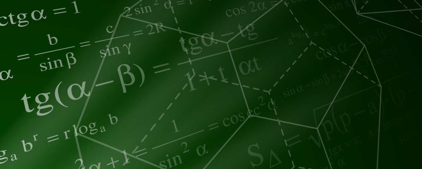 Equations on a green background
