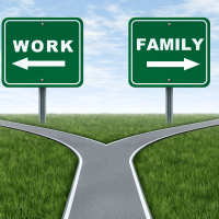 Work and family road signs