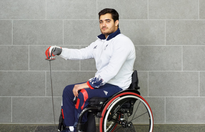 Paralympian and double Wheelchair Fencing World Champion Dimitri Coutya.