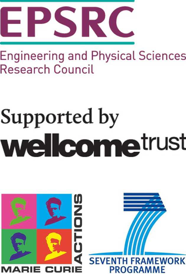Sponsor logos - EPSRC, Wellcome Trust and EU FP7