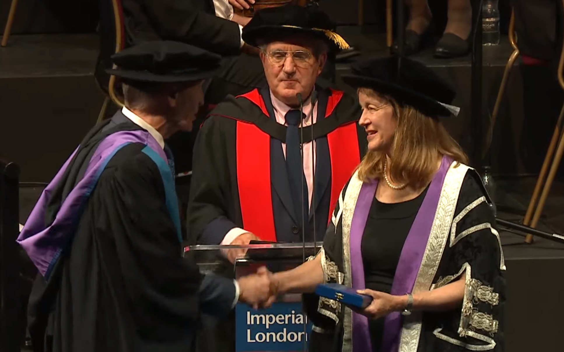 Prof Best received the Imperial College Medal from President Gast