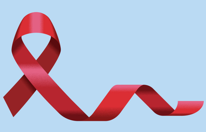 A red ribbon