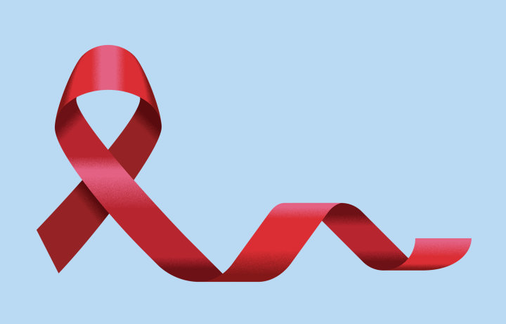 An AIDS charity ribbon