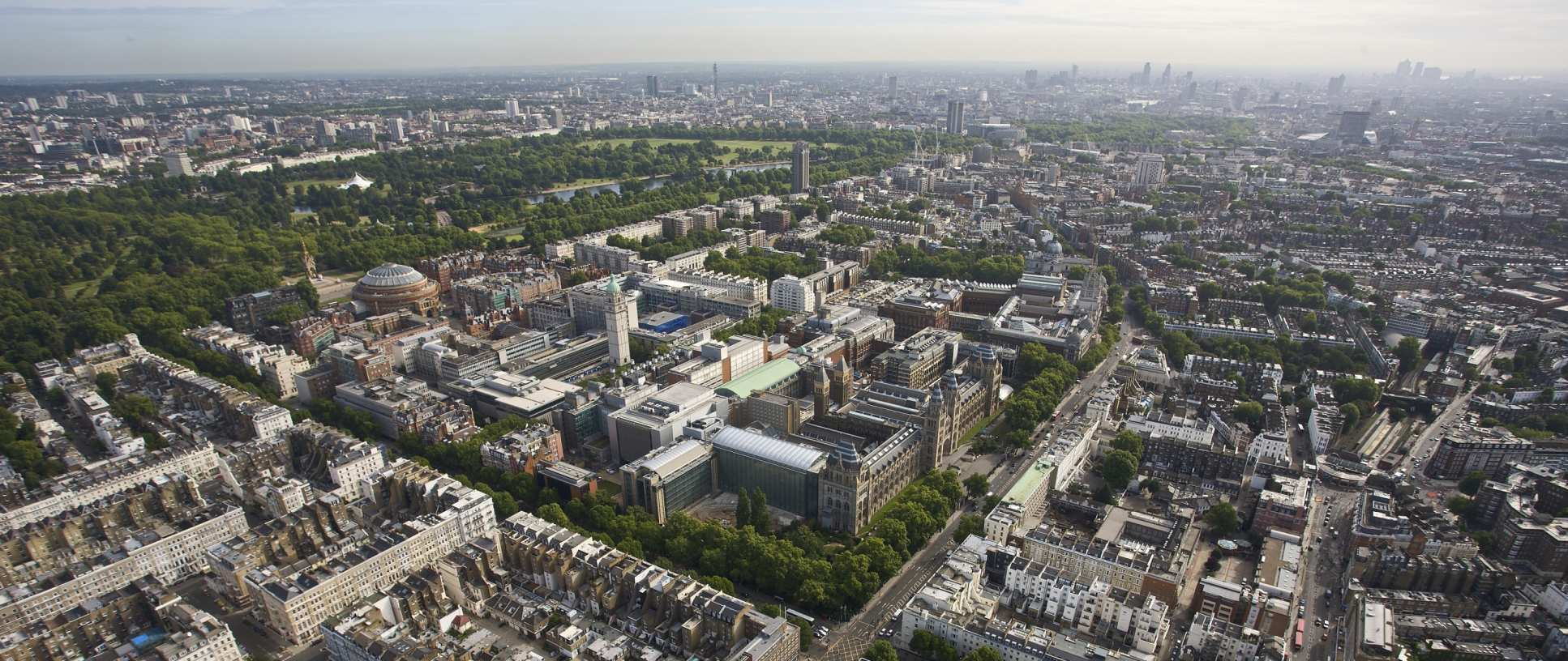 Aerial shot of South Kensington campus
