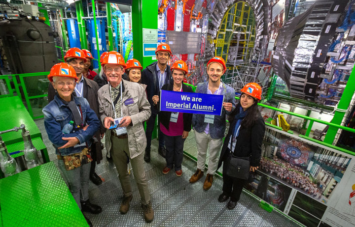 A group of Imperial alumni on a tour of the Large Hadron Collider facilities at CERN