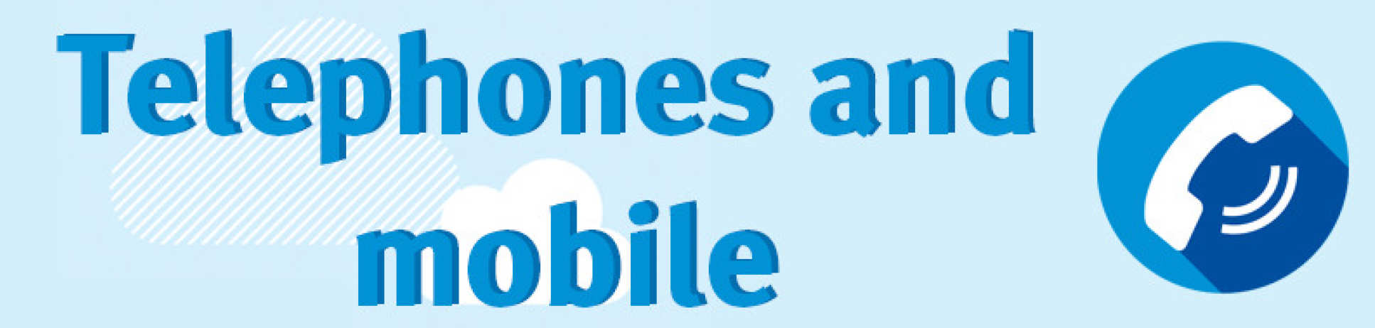 telephone and mobile banner