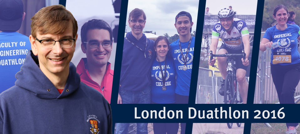 Thermophysics Group members at the London Duathlon, September 2016.