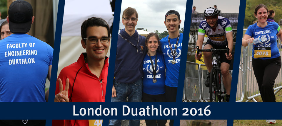 Thermophysics Group members at the London Duathlon, September 2016
