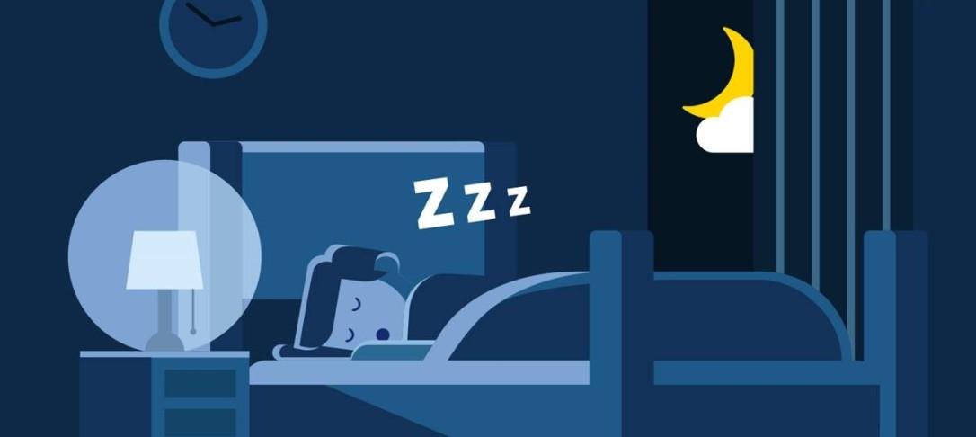 Illustration of man sleeping