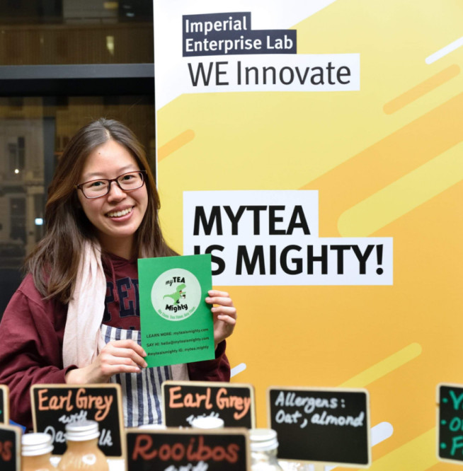 Tina Chen at the WE Innovate competition