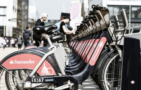 The branded santander cycles of london