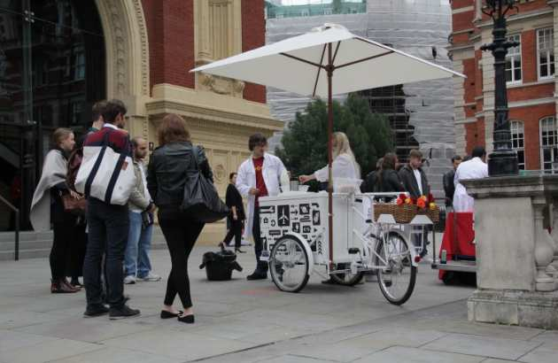 Tricycle outside the Royal Albert Hall