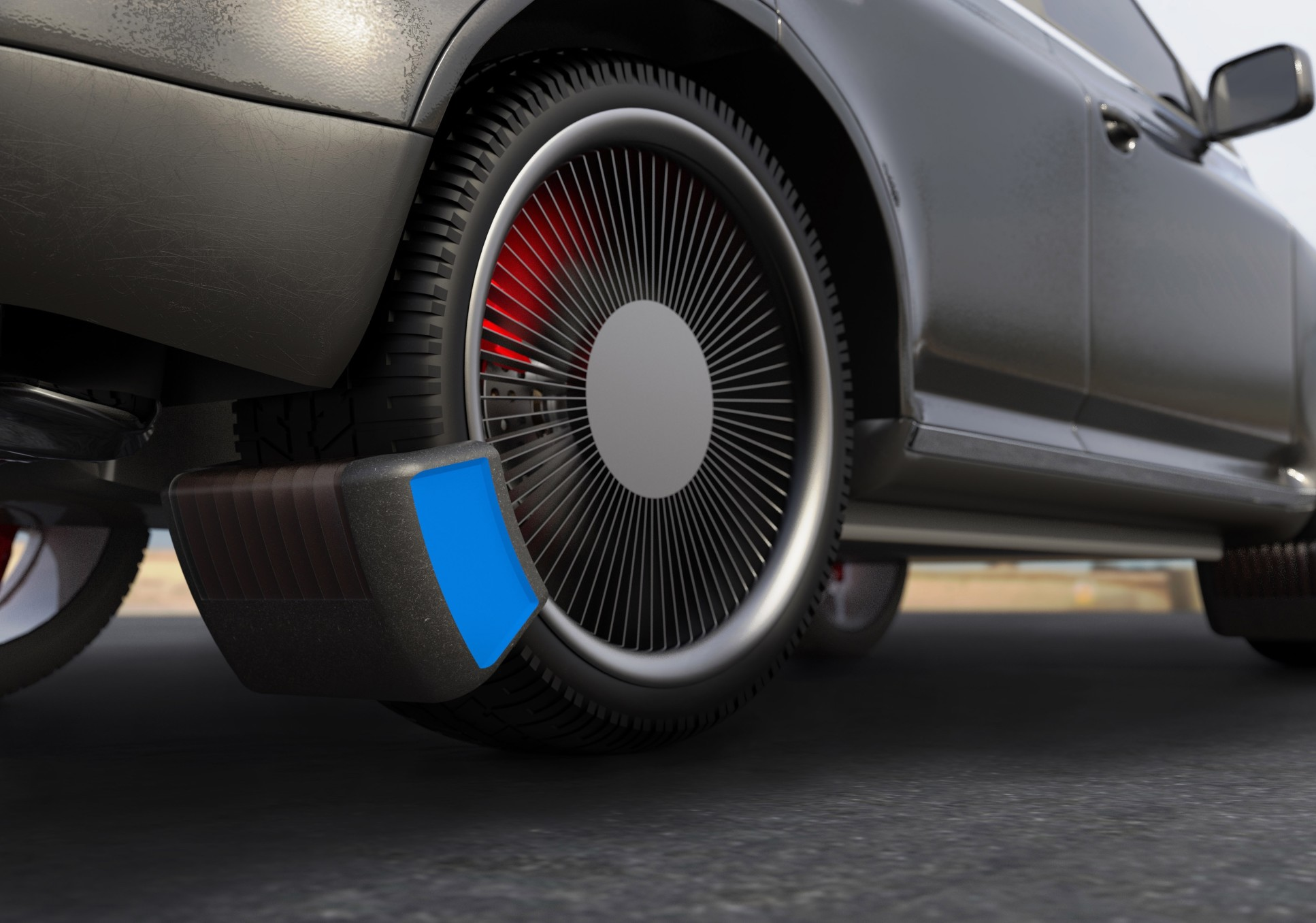 Image of The Tyre Collective's device for collecting tyre particles