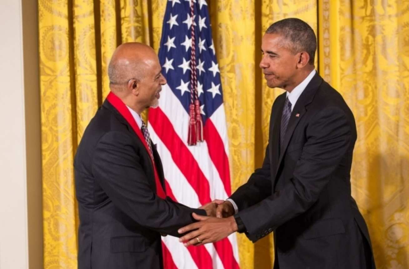 Abraham Verghese received a National Humanities Medal from President Barack Obama