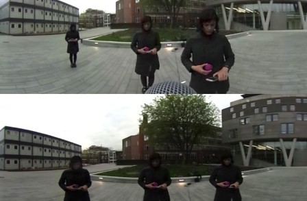 Photos of a person outside testing distance perception