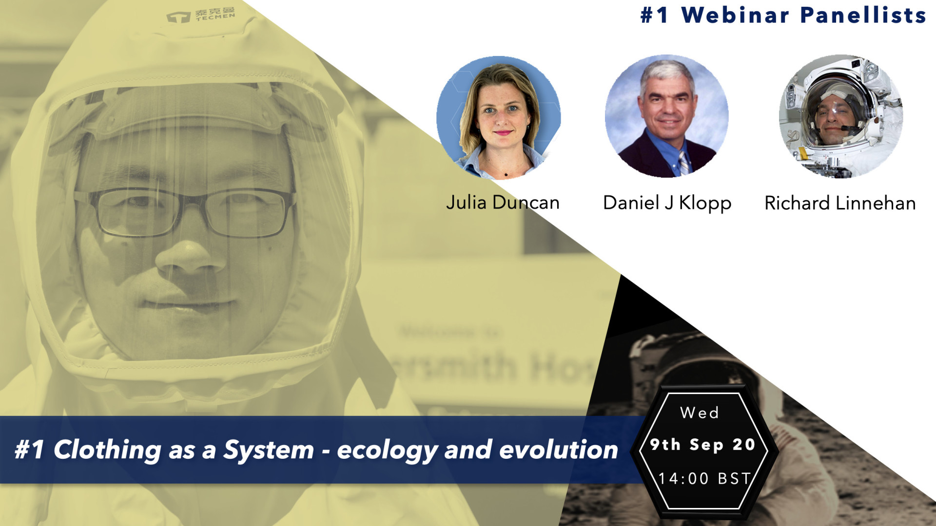 First section of 'Webinar Series: From PPE to Spacesuits'