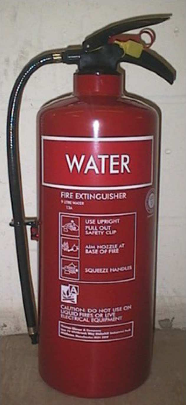 A water extinguisher