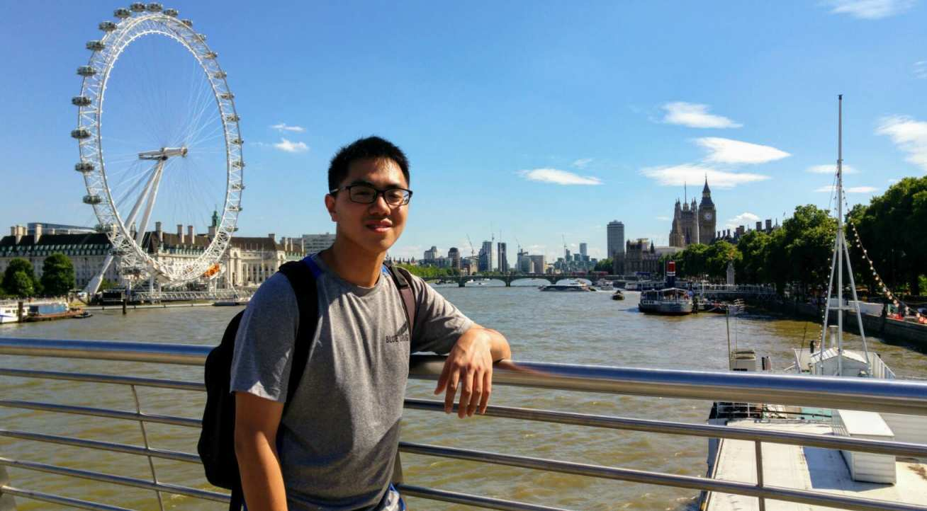 MIT student Yun Chang in London