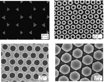 Variuos metal nanosrtuctures by colloidal lithography