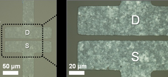 Graphene electrodes for large-area electronics