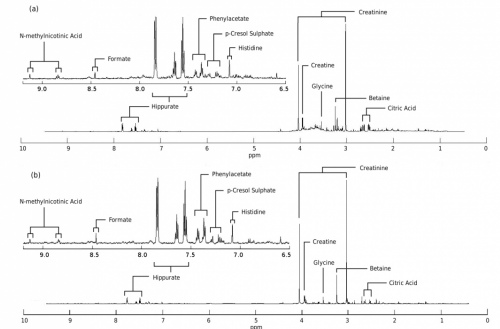 Simulated and real NMR spectra