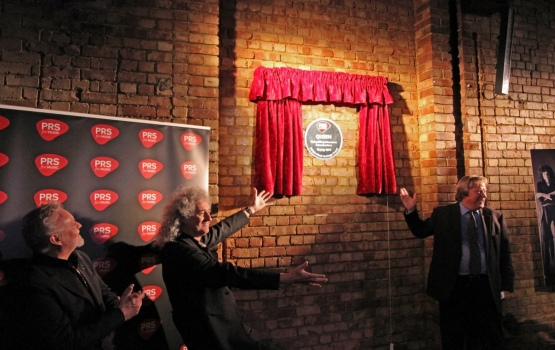 PRS Chair, Guy Fletcher OBE, unveils Queen's music heritage plaque
