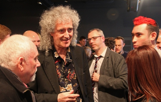 Dr Brian May chats to fans