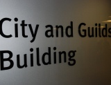 City and Guilds building sign